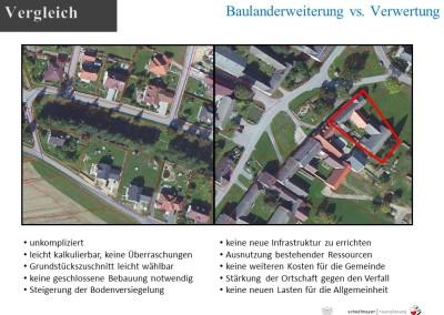 Vergleich Neubau und Abbruch